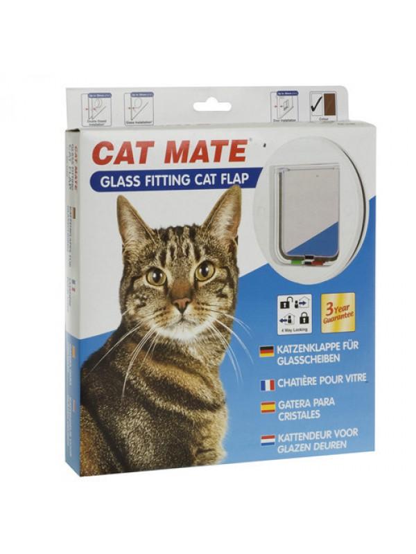 Cat Mate 4 Way Glass Wood Fitting Cat Flap Door